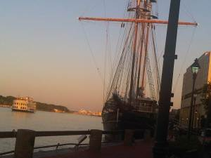 Tall Ship on Savannah River