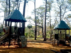 Skidaway Island Georgia State Park playground in Savannah GA USA