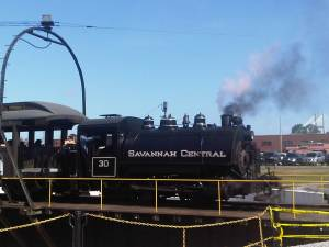 Vintage Steam Train in Savannah at Georgia Railroad Museum (c) Sandy Traub