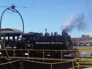 Vintage Steam Train in Savannah at Georgia Railroad Museum (c) Sandy Traub
